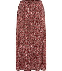 Inspire Red Ethnic Print Side Split Maxi Skirt Now £9.00Was £19.99 Click to visit New Look
