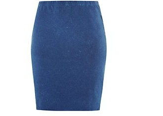 Inspire Dark Blue Jersey Acid Wash Pencil Skirt £9.99 click to visit New Look