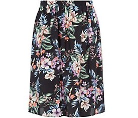 Inspire Black Tropical Print Midi Skater Skirt £17.99 click to visit New Look