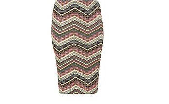 Inspire Neon Pink Aztec Print Midi Skirt £17.99 click to visit New Look