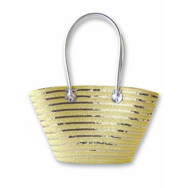 Sequin Striped Straw Basket £35 click to visit La Redoute