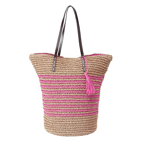 Joe Browns Natural stripey straw shopper now £13.95 click to visit Debenhams