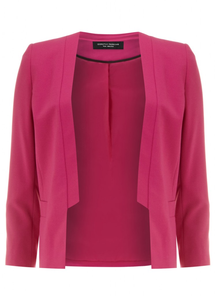 Magenta Crepe Tux Jacket     Price: £35.00 click to visit Dorothy Perkins