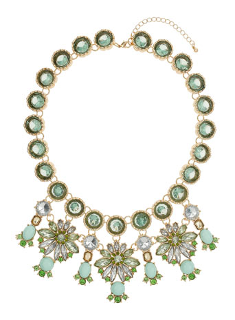 Green Stone Flower Necklace Price: £30.00 click to visit Miss Selfridge
