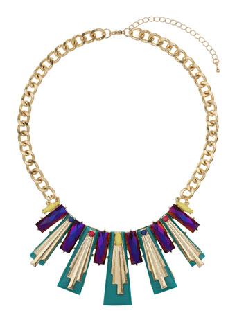 Green Bar Collar Price: £14.50 click to visit Miss Selfridge