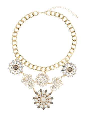 Rhinestone Flower Collar Price: £16.50 click to visit Miss Selfridge