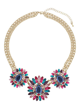 Bright Stone Flower Collar     Price: £14.50 click to visit Miss Selfridge