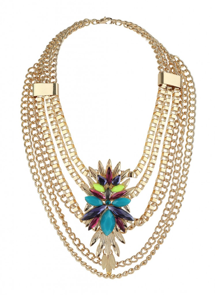 Multi Chain Stone Necklace Price: £16.50 click to visit Miss Selfridge