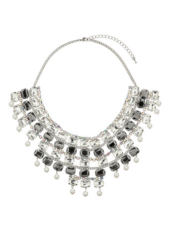 Baguette Stone Collar     Price: £40.00 click to visit Miss Selfridge