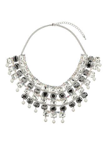 Baguette Stone Collar Price: £40.00 click to visit Miss Selfridge