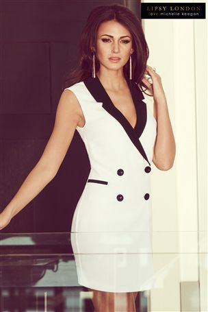 Michelle Keegan Tux Dress £55 click to visit Next