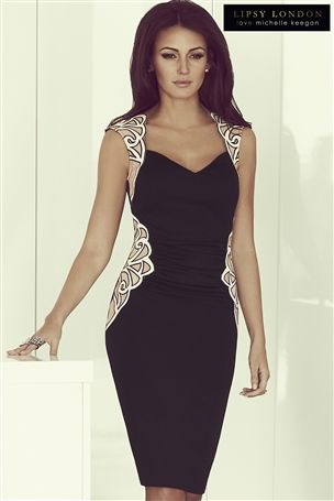 Michelle Keegan Mesh Detail Bodycon Dress £65 click to visit Next