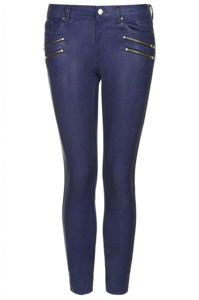 MOTO Coated Biker Jeans     Price: £45.00 click to visit Topshop