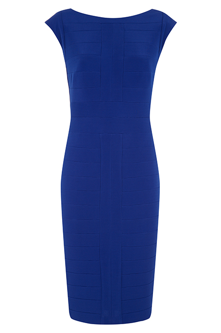 View Larger Image     model     fabric     alt     back Cobalt Bandage Dress Price £119.00  click to visit Planet