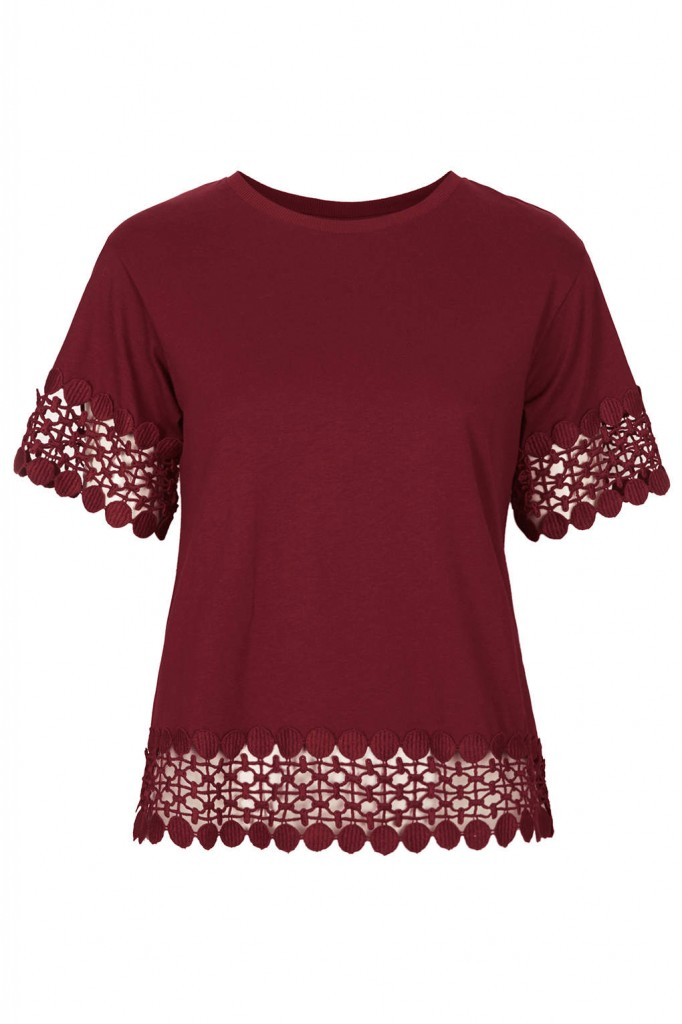 Lace Panel Tee     Price: £24.00 click to visit Topshop