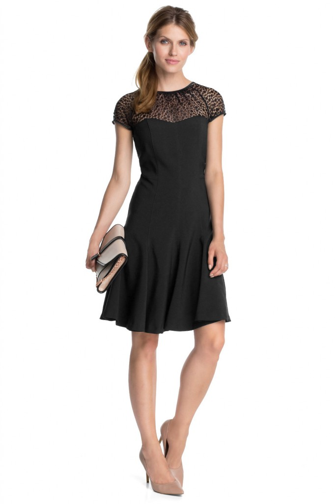 floaty lace-trimmed crêpe dress £ 75.00 click to visit Esprit