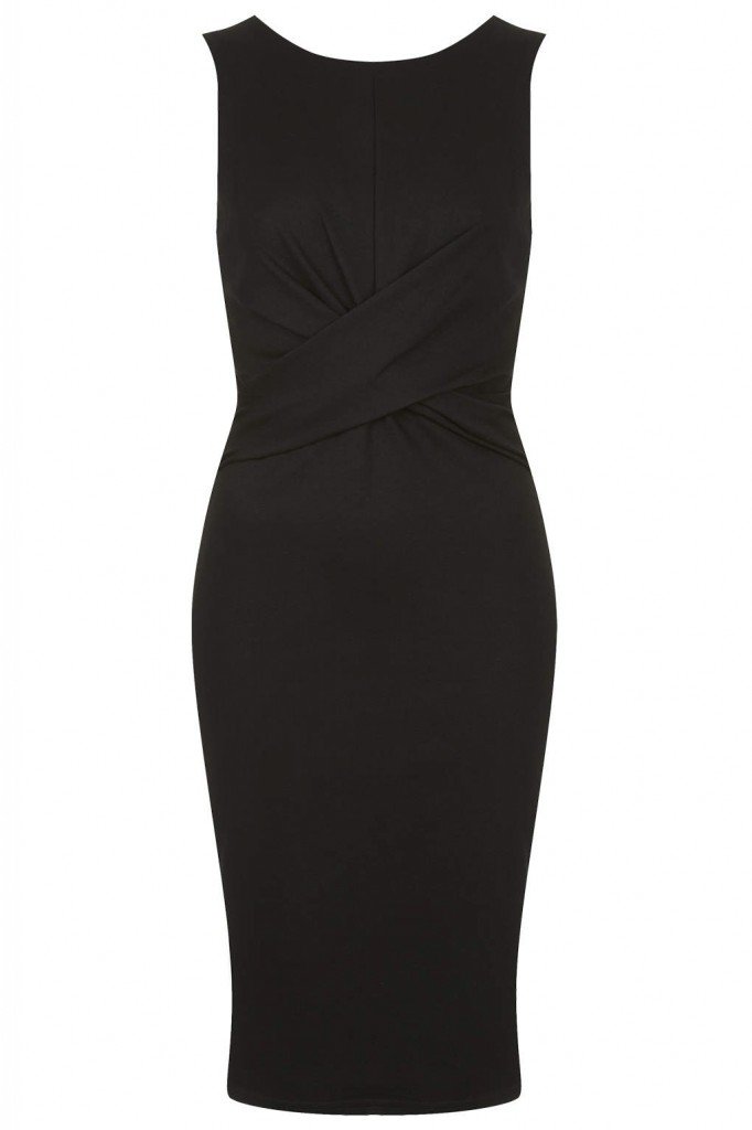 Ponte Twist Bodycon Dress     Price: £42.00 click to visit Topshop