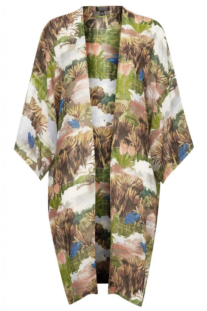 Fantasy Print Longline Kimono     Price: £38.00 click to visit Topshop