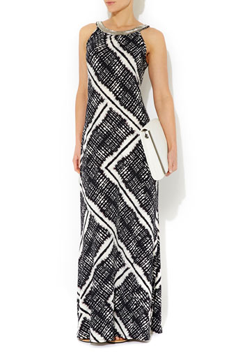 Neutral Print Embellished Maxi     Was £55.00     Now £44.00 click to visit Wallis