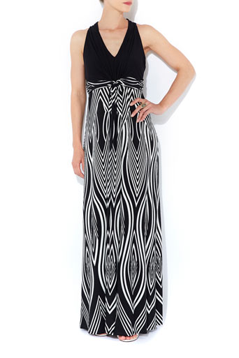 Monochrome Tribal Print Maxi     Was £48.00     Now £30.00 click to visit Wallis