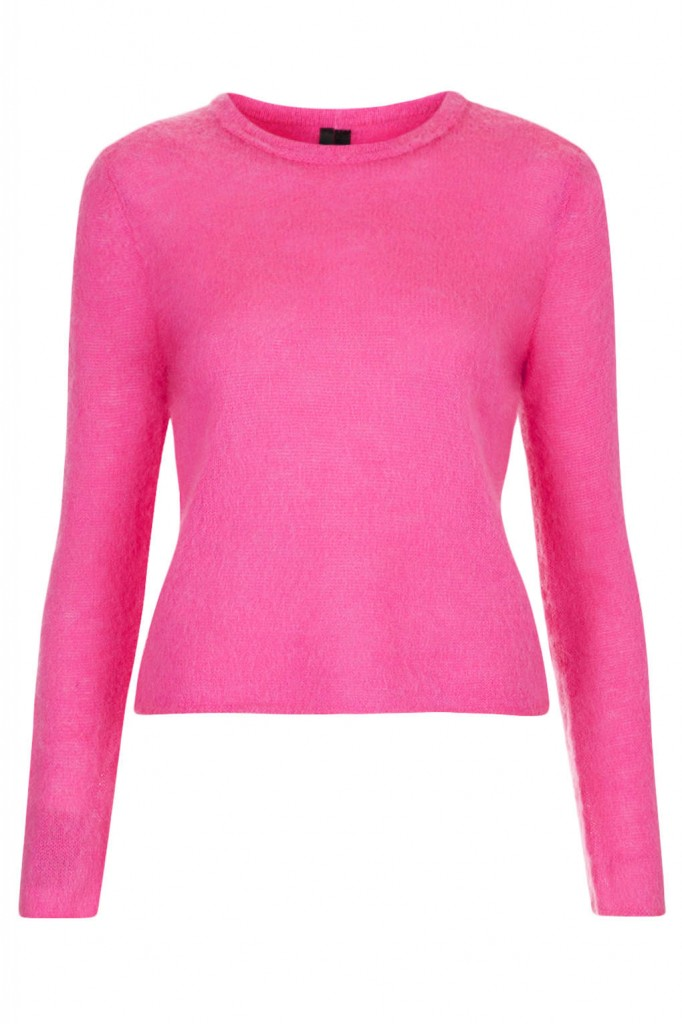 Fluro Fluffy Jumper by Boutique     Price: £50.00 click to visit Topshop