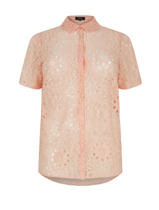 Inspire Coral Floral Lace Boxy Shirt Now £10.00Was £29.99 click to visit New Look