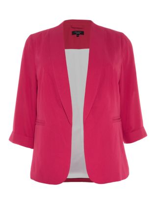 Inspire Dark Pink Crepe Blazer £27.99 click to visit New Look