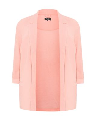 Inspire Coral 3/4 Sleeve Drape Blazer £22.99 click to visit New Look