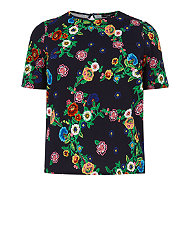 Inspire Navy and Neon Pink Textured Floral Print Boxy Top now out of stock, click here to view similar.