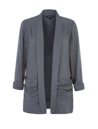 Grey Double Pocket Twill Drape Blazer £22.99 Click to visit New Look
