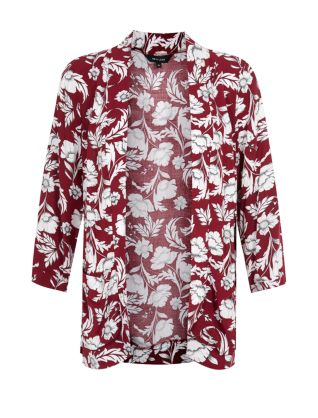 Burgundy Oriental Floral Print Drop Pocket Kimono £22.99 click to visit New Look