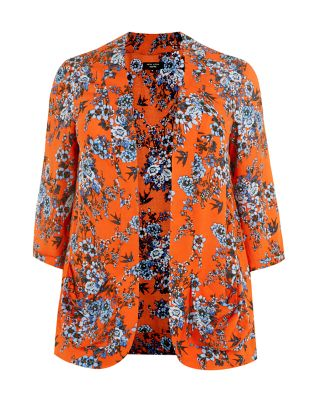 Inspire Orange Floral Print Drop Pocket Blazer £24.99 click to visit New Look