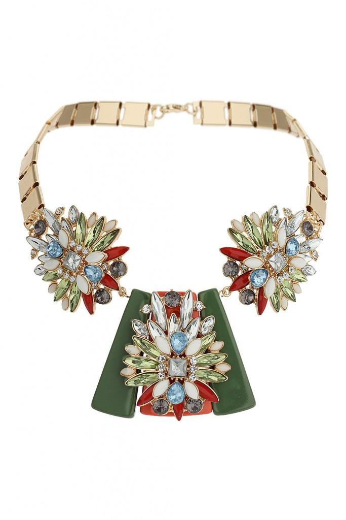 Green Navette Rhinestone Collar     Price: £25.00 click to visit Topshop