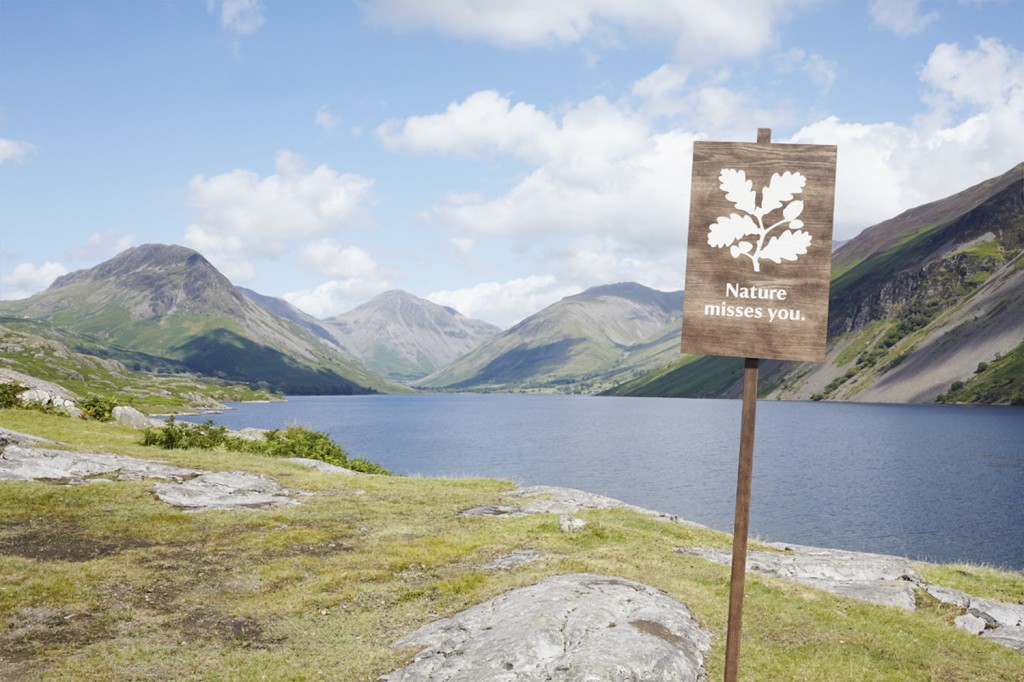 Nature misses you sign - Wasdale