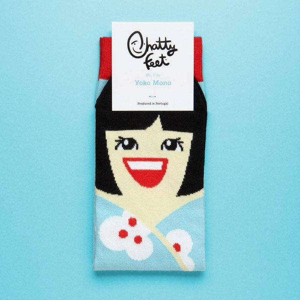 Yoko Mono Socks by Spyros Zevelakis £7 click to visit Chatty Feet