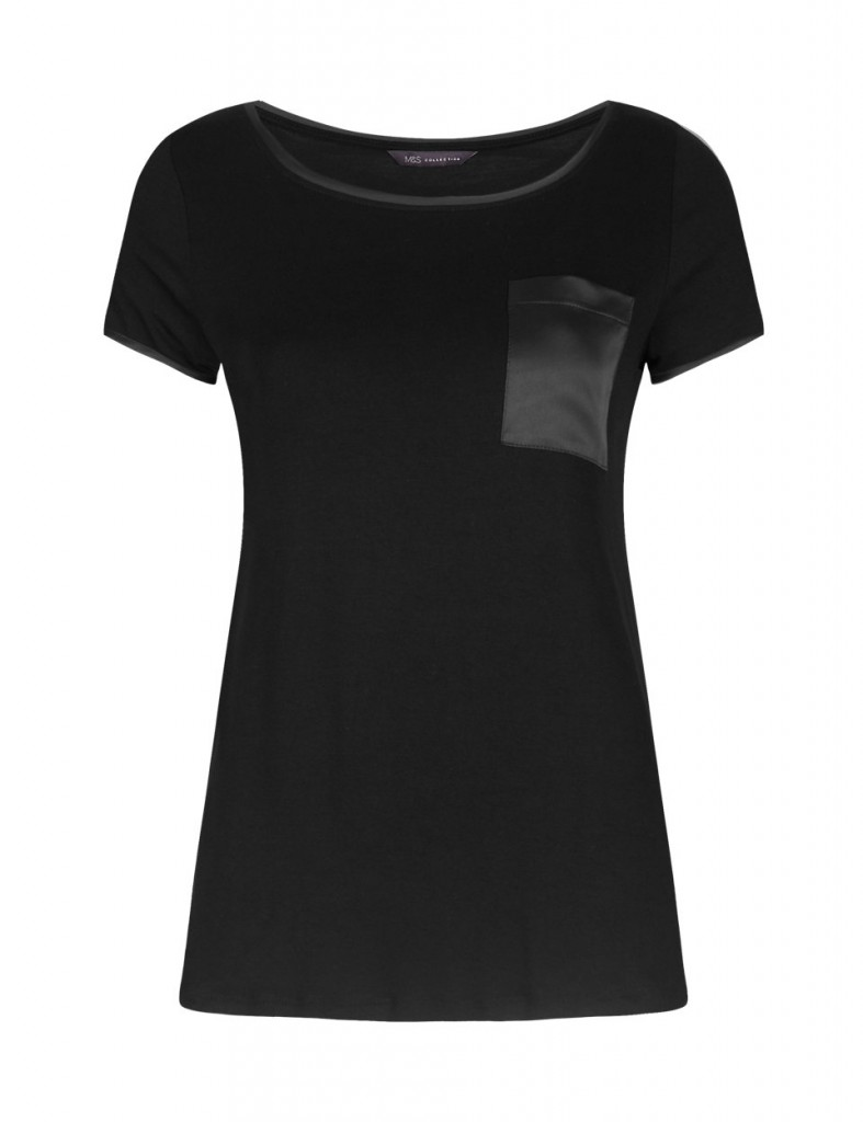 M&S COLLECTION Satin Pocket Top with StayNEW™ £15 click to view