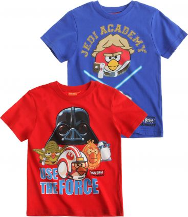 Angry Birds Star Wars 2 Pack T-Shirt red £9.95 click to visit LamaLoLi