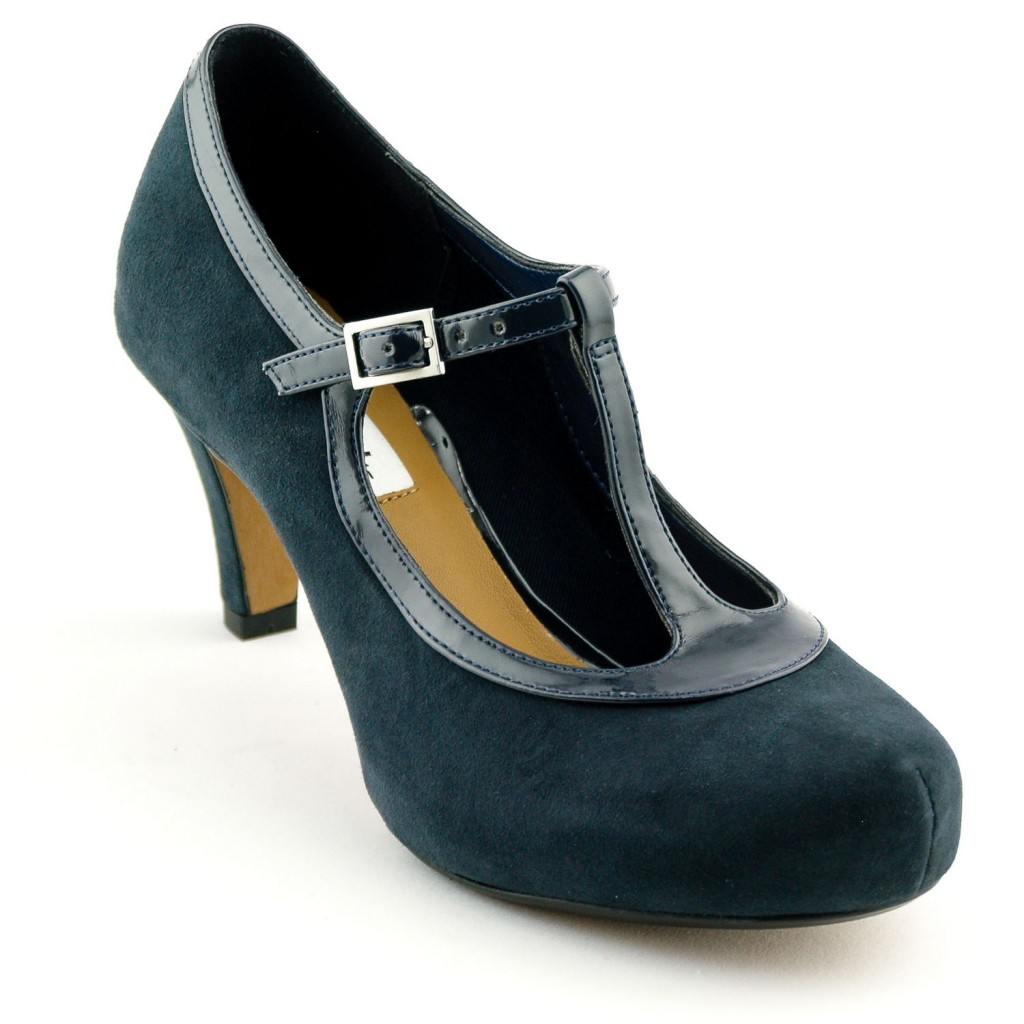 Clarks Chorus Thrill Navy Suede £49 click to visit Bells Shoes