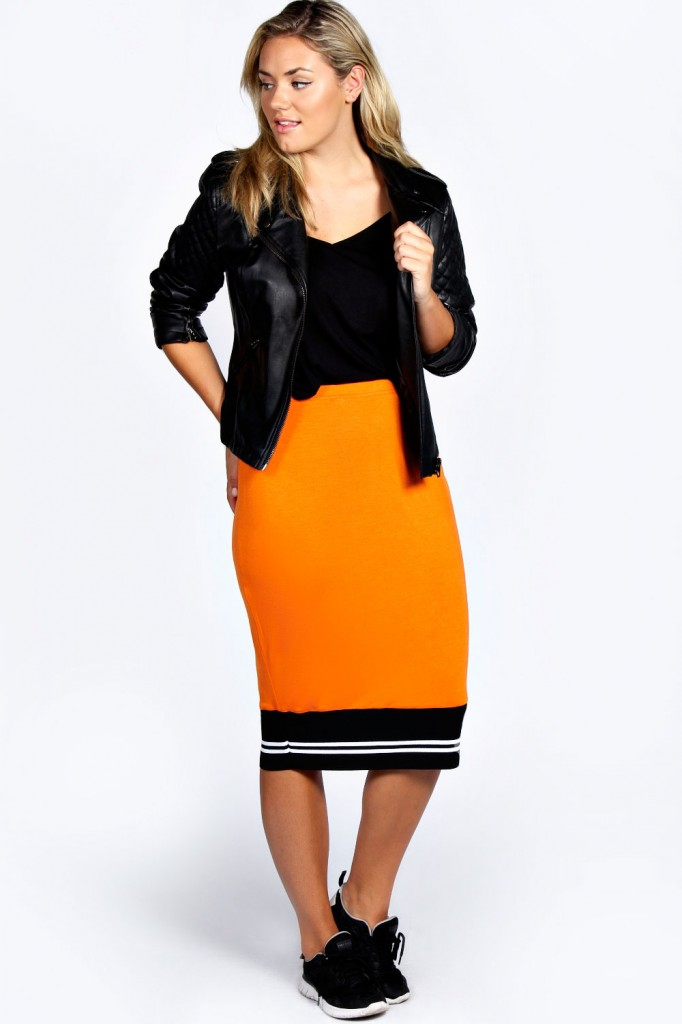 Lucy Midi Skirt With Sport Rib Product code: pzz99110 £16.00 click to visit Boohoo