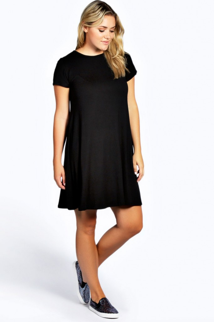 Jayda Short Sleeve Swing Dress £12.00 click to visit Boohoo
