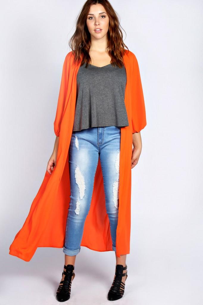 Mallory Longline Kimono £22.00 click to visit Boohoo