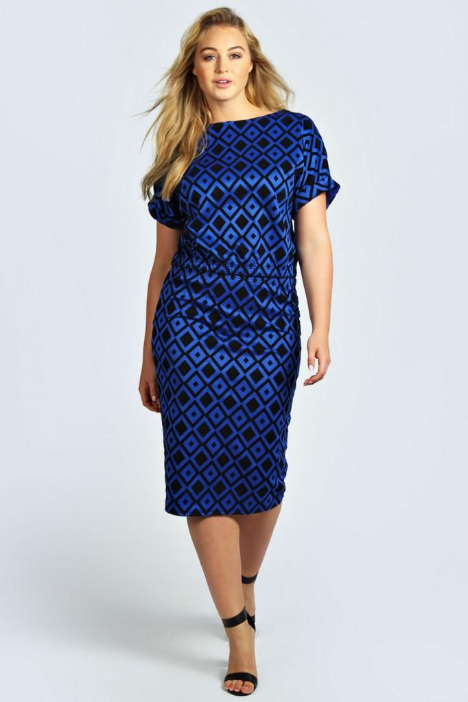 Caitlyn Flocked Fabric Midi Skirt £14.00