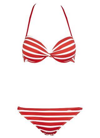 Venice Beach Red Striped Push-Up Bikini £42.00 click to visit Swimwear 365
