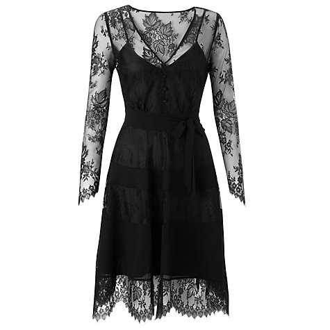 Somerset by Alice Temperley Lace Tiered Dress, Black £160 click to visit John Lewis