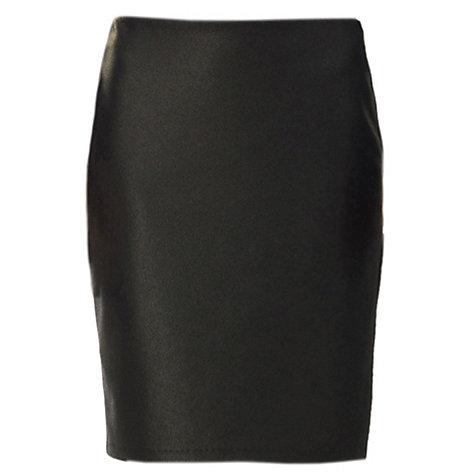 Max Studio Leatherette Ponte Skirt, Black £35 click to visit John Lewis