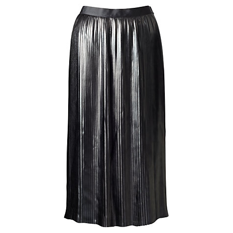 Jigsaw Pleated Coated Skirt, Black £129 click to visit John Lewis