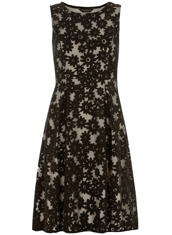 Black daisy burnout fit and flare dress     Was £30.00     Now £27.00 click to visit Dorothy Perkins
