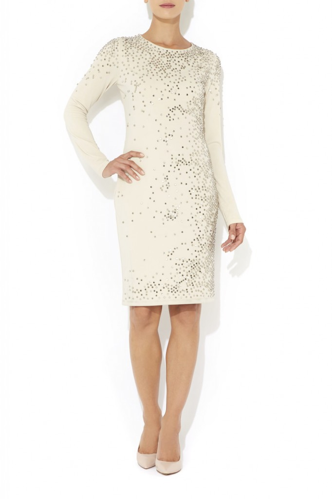 Nude All Over Beaded Dress     Price: £95.00 click to visit Wallis