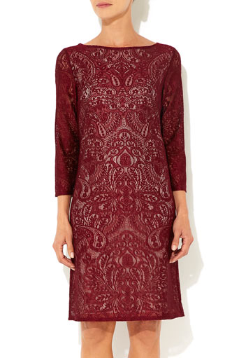 Berry Placement Lace Dress     Was £45.00     Now £36.00 click to visit Wallis