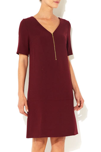 Port Zip Front Crepe Dress     Was £35.00     Now £28.00 click to visit Wallis